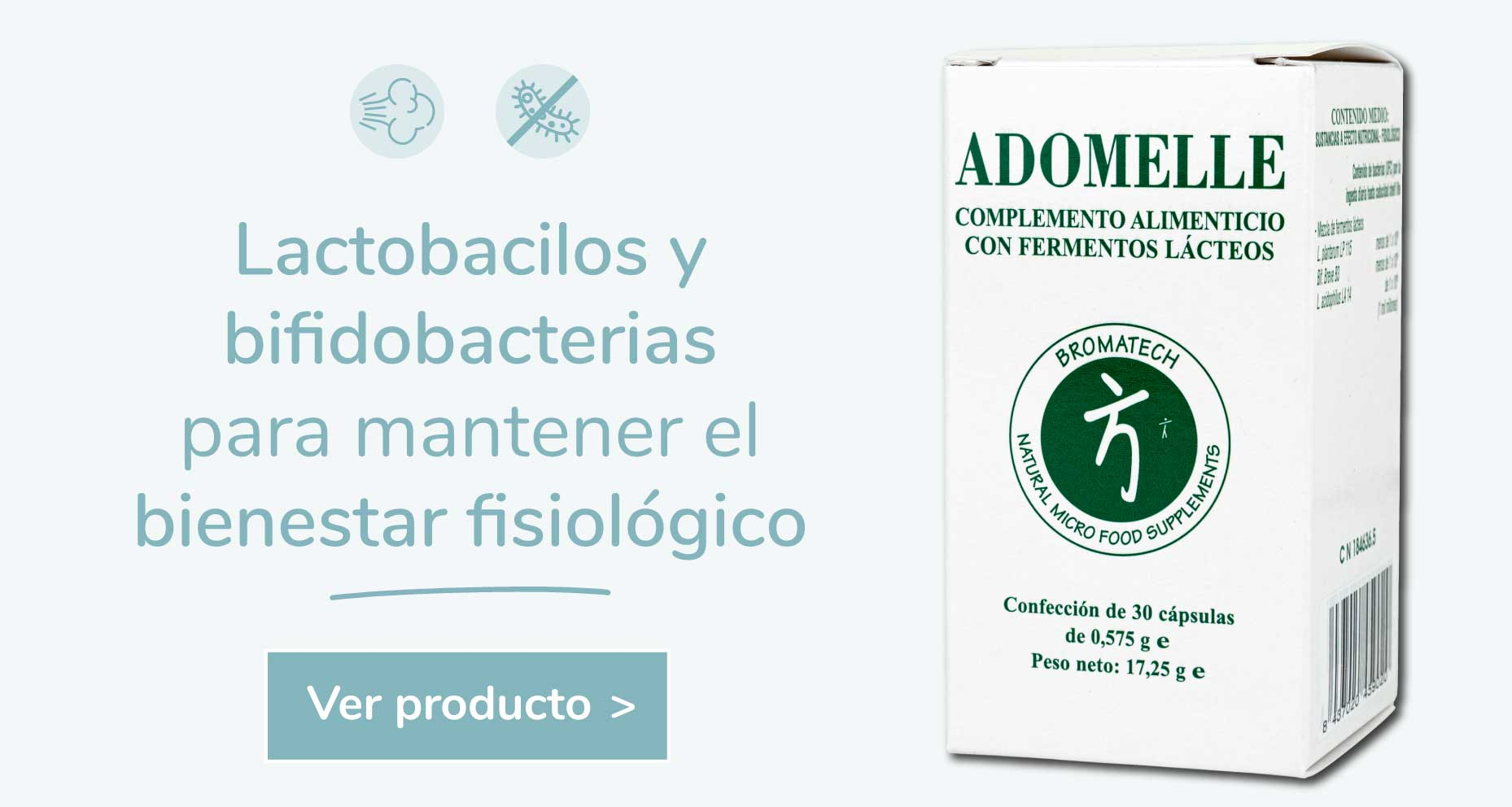 Probióticos derivación humana adomelle obesidad infantil microbiota sibo